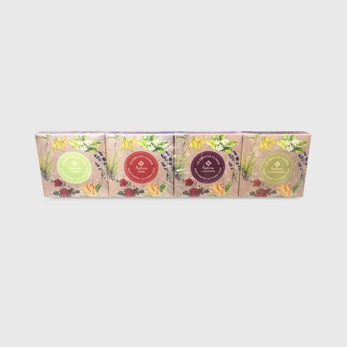 Satira  Celebrated Flower Moisturizing Glycerin Soap Set (4pcs X 70G)
