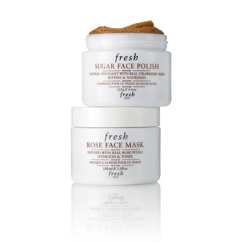 Fresh Sugar Face Polish & Rose Face Mask Essential Duo