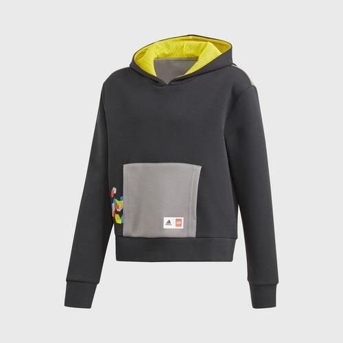 Adidas G LEGO HOODIE - BLACK SIZE 128 CM UK