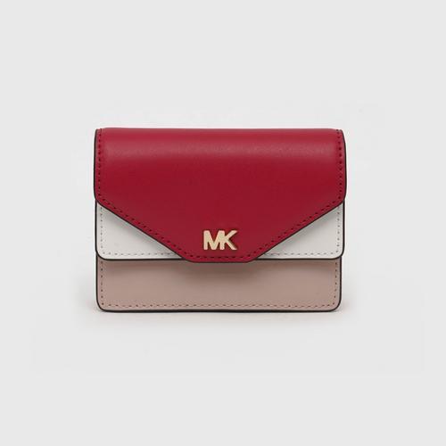 MICHAEL KORS Money Pieces Flip Card Holder - Soft Pink Multi