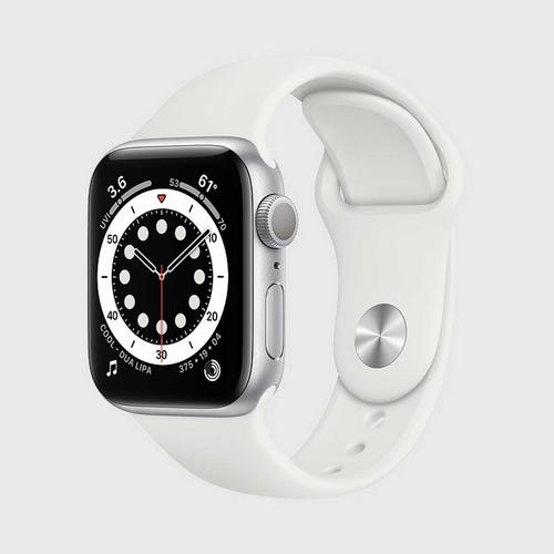 Apple Watch Series 6 (GPS + Cellular)  Silver Aluminum Case with White Sport Band(40mm)