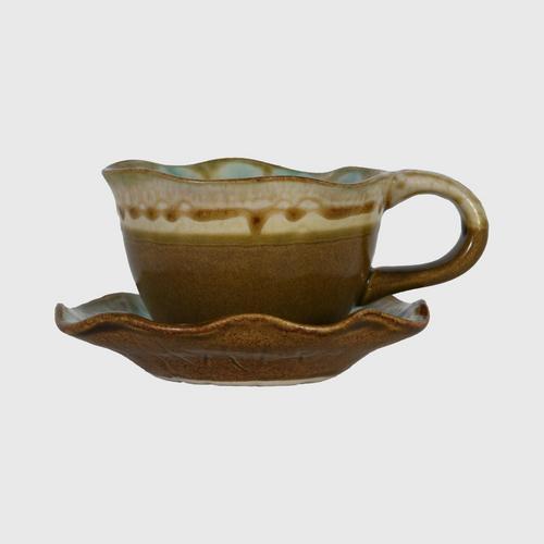 CHULABHORN  COFFEE MUG BROWN CE002