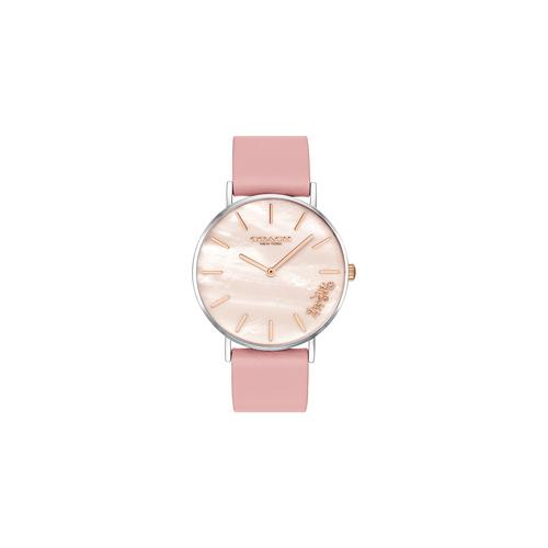 COACH 36mm Perry Quartz Peach Mother of Pearl Dial Ladies Watch