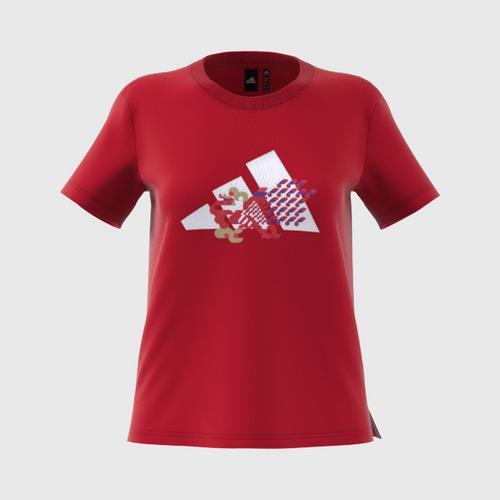 ADIDAS CNY Tee Graphic Tee - Scarlet - 32 UK