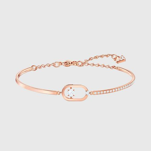 SWAROVSKI North Bracelet, White, Rose-gold tone plated - Size M