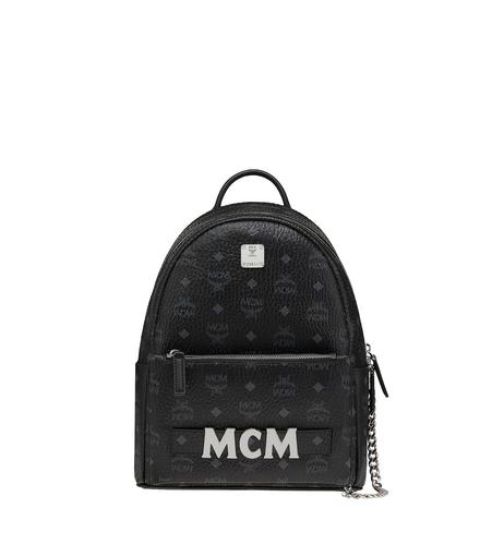 MCM BACKPACK SMALL BLACK - BLACK
