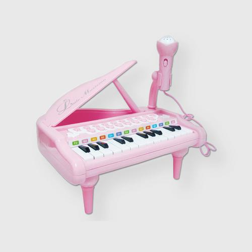 BB TOY Piano with Light, Music and Microphone - Pink