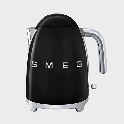 斯麦格 (SMEG) 意大利复古电水壶不锈钢 (1.7L) - 黑色