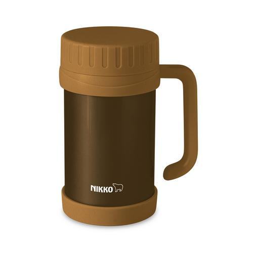 NIKKO Stainless Steel Vacuum Mug 500 ml. CHX - Golden Brown