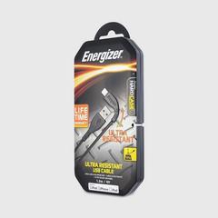 Energizer Ultimate Series Ultra Resistance Lightning Cable 1.2 Meter - Black