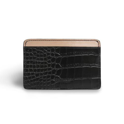 CONTAINER CARD HOLDER CROC  BLACK