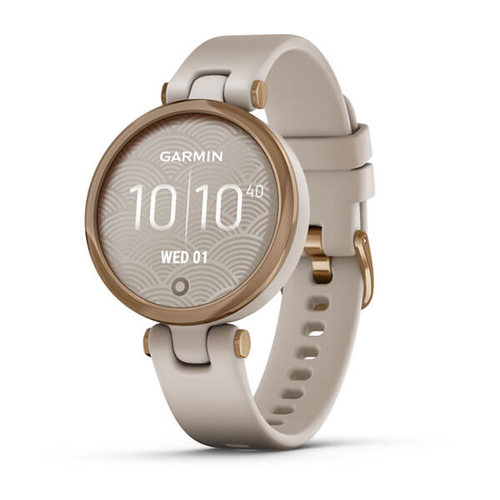 GARMIN Lily™ - Rose Gold Bezel with Light Sand Case and Silicone Band