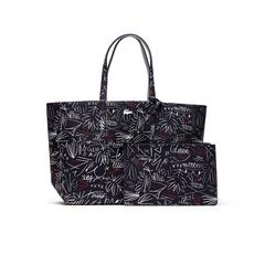 拉科斯特WOMEN'S ANNA REVERSIBLE BICOLOUR EGYPTIAN PRINT TOTE BAG