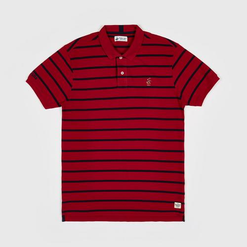 BEVERLY HILLS POLO CLUB S/S POLO SHIRT   RED -3XL