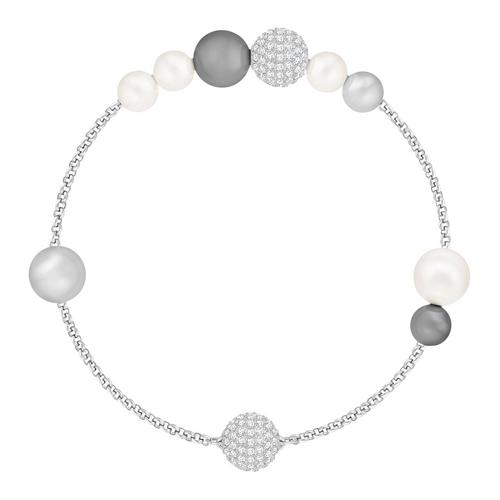 SWAROVSKI Remix Collection Mixed Gray Crystal Pearl, Rhodium plating