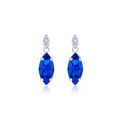 12VICTORY Marquise Sapphire Earrings