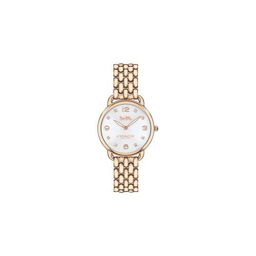 COACH 28mm Delancey Slim Carnation Gold Tone Bracelet Watch