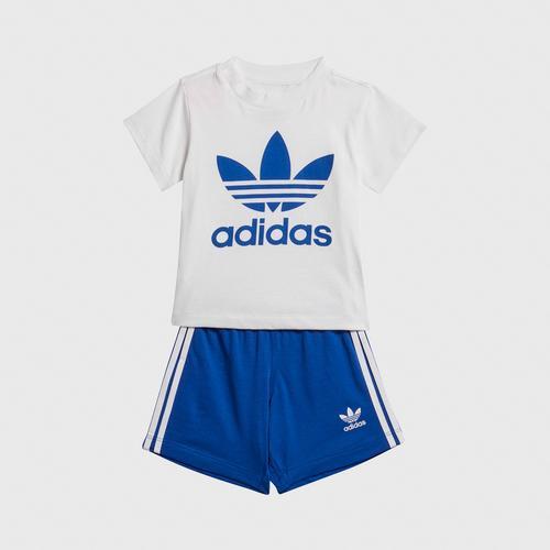 Adidas SHORT TEE SET - WHITE SIZE 98 CM UK