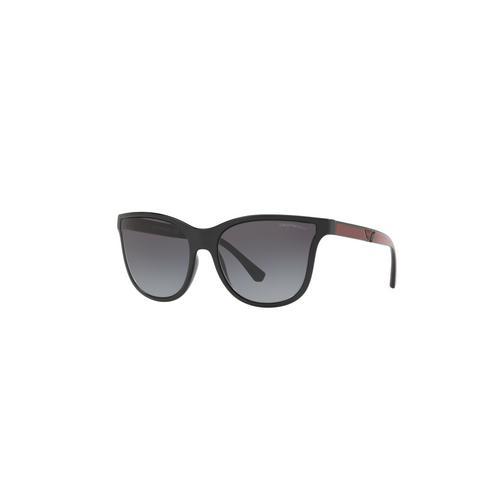 EMPORIO ARMANI Black Grey Gradient 58mm Female Sunglasses