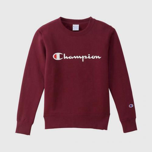 CHAMPION Women Basic Sweatshirt Burgundy - Size M