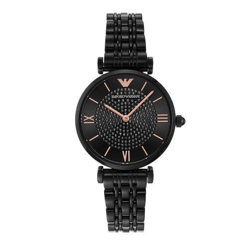 EMPORIO ARMANI Gianni T-Bar Analog Black Stainless Steel Watch
