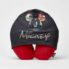 Disney Mickey Mouse Neck pillow with Hoodie Black&Red