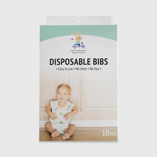 PEPPERMINT DISPOSABLE BIBS (DINOSAUR) 10 PCS 91 g