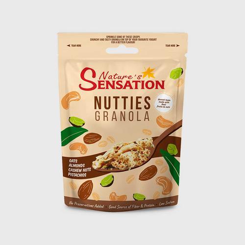 NATURE'S SENSATION  NUTTIES GRANOLA 454 G.