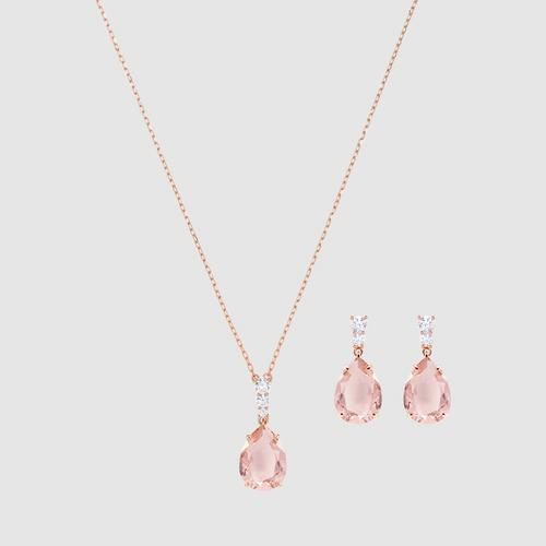 SWAROVSKI Vintage Set, Pink, Rose gold plating