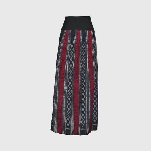 TAYWA - Hand-woven cotton skirt  Free size Red