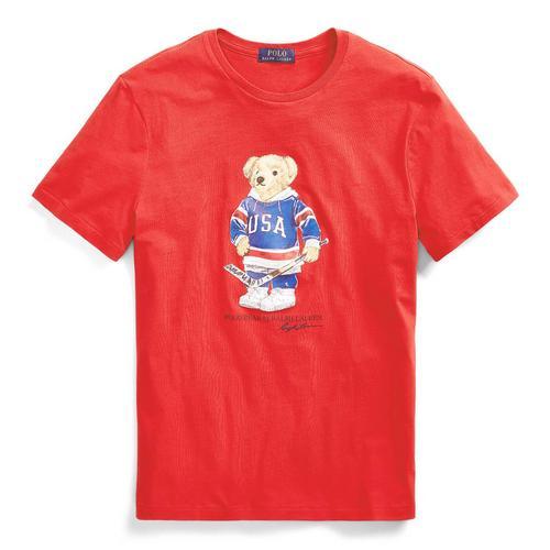定制修身版型小熊图案 T 恤