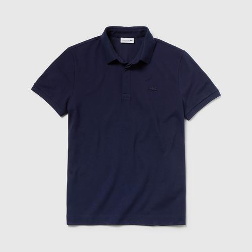 法国鳄鱼 LACOSTE 男式巴黎常规合身弹力棉Polo衫 Piqué (海军蓝) - 5码