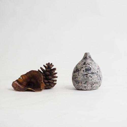 103 Paper mini vase Size XXL gray & black