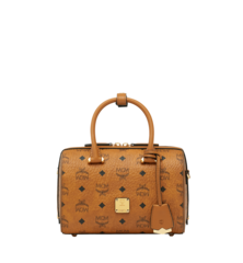 MCM ESSENTIAL VISETOS ORIGINAL BOSTON - Cognac