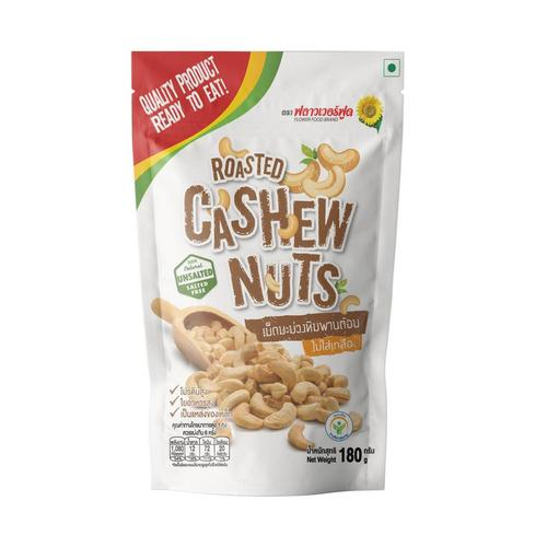 FLOWER FOOD ROASTED CASHEW NUTS 180G