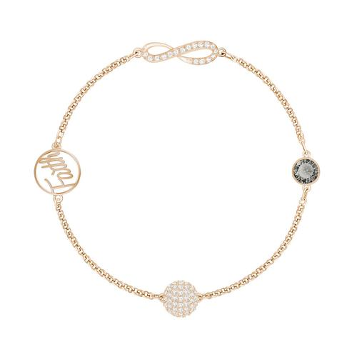 SWAROVSKI Remix Collection Infinity Symbol Strand, Black, Rose gold palting