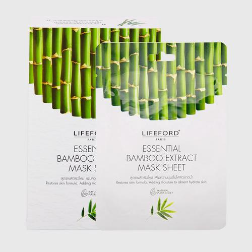 LIFEFORD(乐福 巴黎) 竹面膜 6片  PARIS ESSENTIAL BAMBOO EXTRACT MASK SHEET 14 G x 6 sachets