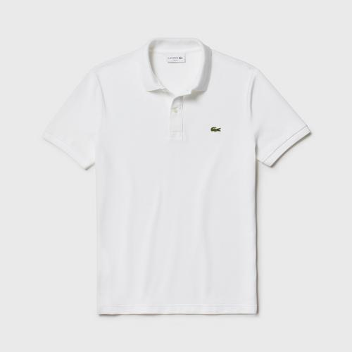 LACOSTE Men's Slim fit Polo Shirt in petit piqué (White) - Size 4