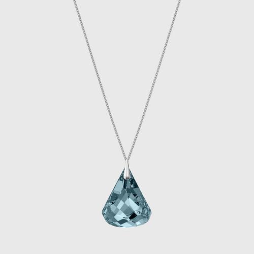 SWAROVSKI Spirit Necklace, Blue, Rhodium plated