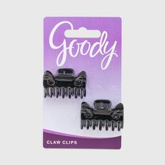GOODY Small Bow Tie Claw Clip, Black 2CT
