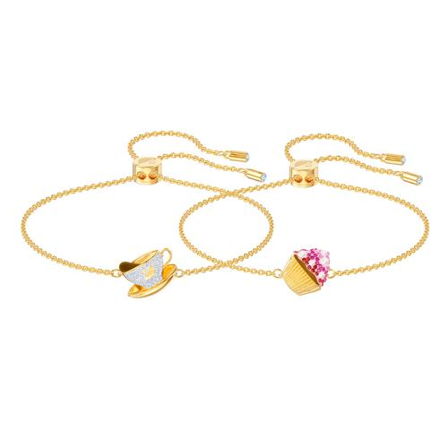 SWAROVSKI Nicest Set, Multi-colored, Gold-tone plated