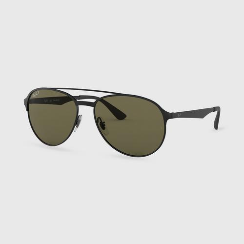 RAYBAN Shiny Black On Top Matte Black Metal Sunglasses 0RB3606186/9A59