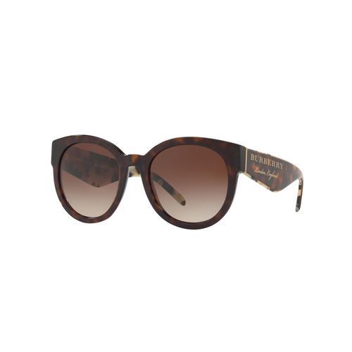 BURBERRY Dark Havana Brown Gradient 54mm Female Sunglasses