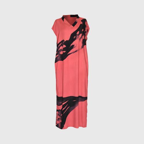 LAISEN V-neck set with side slits - Pink Petal