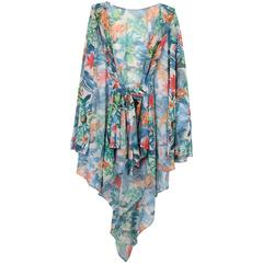 CRUISE Lace Robe Printed-Free size