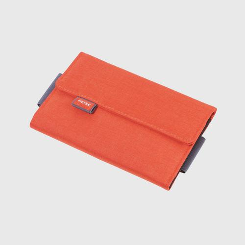 TROIKA TRV55/OR Organiser Case for Travel Documents with Magnetic Closure - Orange