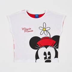 Disney Girl T-Shirt Minnie with Flower-S