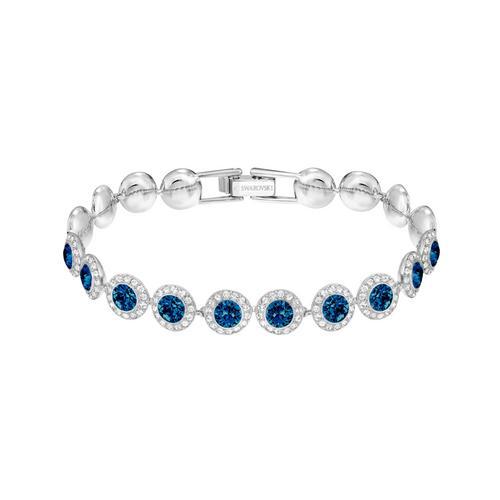 SWAROVSKI Angelic Bracelet, Blue, Rhodium plated