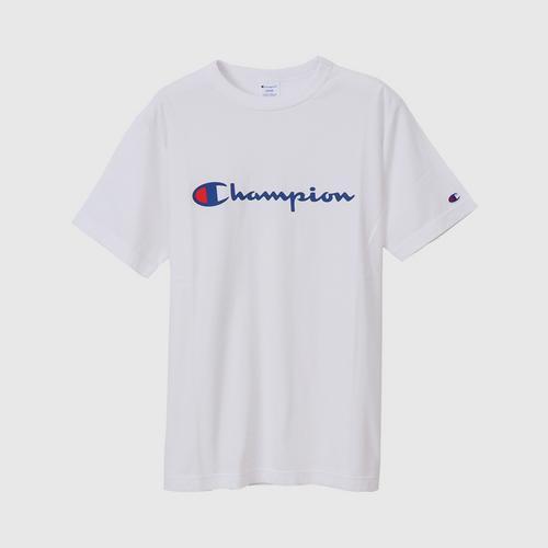 CHAMPION Men Basic T-Shirt White Size S