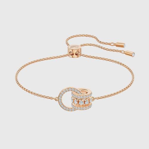 SWAROVSKI Further Bracelet, White, Rose-gold tone plated - Size M